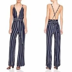 Faithful The Brand Pin Striped Jumpsuit